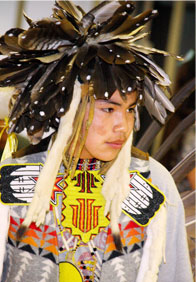 Student in Native regalia