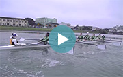 Women's crew practice on Humboldt Bay