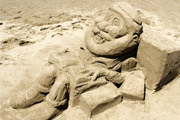 Lucky sand sculpture