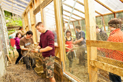 students build a greenhouse