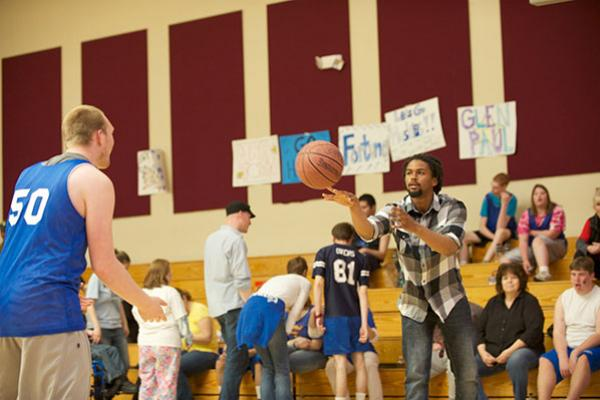 Participants at an HSU Special Olympics event.