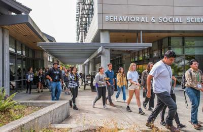 Behavioral & Social Sciences, first CSU building to be LEED Gold Certified by the U.S. Green Building Council for its sustainable design.