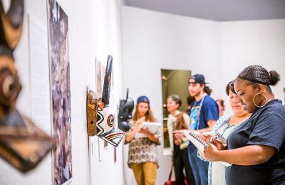The Reese Bullen Gallery offers hands on learning opportunities for Art majors