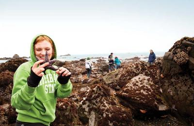 Tide pooling at Patrick's Point State Beach