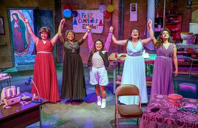 Students act in, costume, and design sets for four productions a year