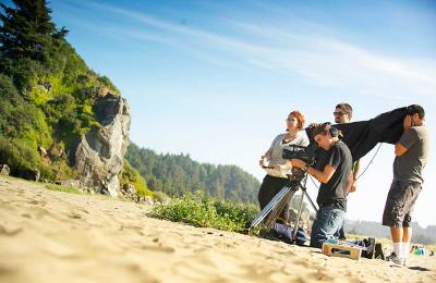 Social Change Digital Production on location at Moonstone beach